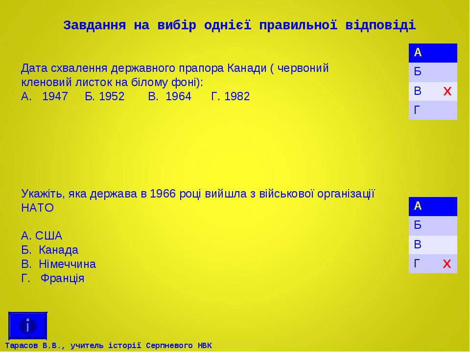 Завдання на вибір однієї правильної відповіді Укажіть, яка держава в 1966 роц...
