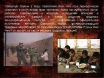 Северную Корею в годы правления Ким Чен Ира периодически обвиняют в нарушения...