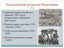 Економічний розвиток Німеччини Правоекстремістський путч березень 1920 (мета-...