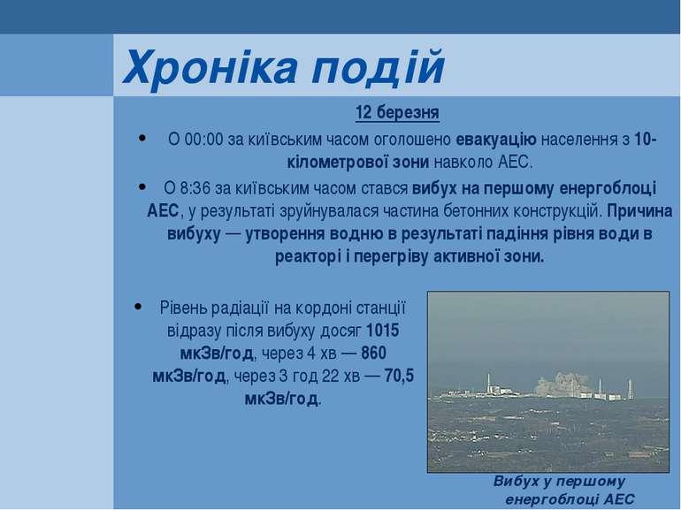 12 березня О 00:00 за київським часом оголошено евакуацію населення з 10-кіло...