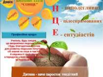 Девіз: Кремінська обласна спеціальна загальноосвітня школа-інтернат