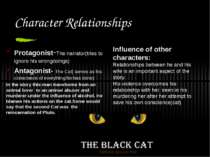 Character Relationships Protagonist-The narrator(tries to ignore his wrongdoi...