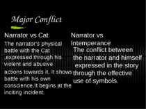 Major Conflict Narrator vs Cat The narrator's physical battle with the Cat ,e...