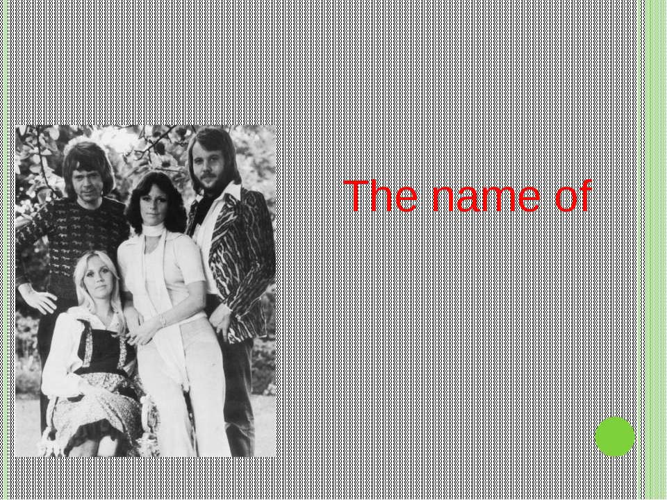 The name of ABBA