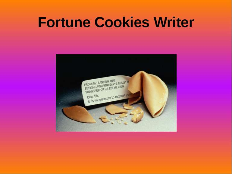 Fortune Cookies Writer