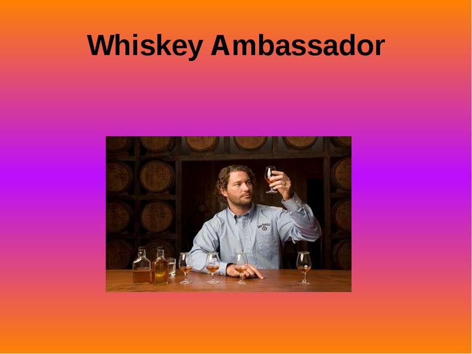 Whiskey Ambassador