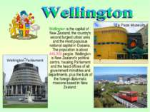Wellington is the capital of New Zealand, the country's second largest urban ...