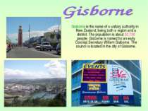 Gisborne is the name of a unitary authority in New Zealand, being both a regi...