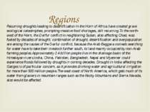Regions Recurring droughts leading to desertification in the Horn of Africa h...