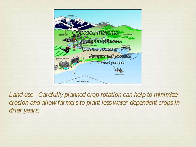 Land use - Carefully planned crop rotation can help to minimize erosion and a...