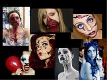 Examles of Halloween make-up and costumes