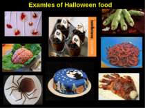 Examles of Halloween food