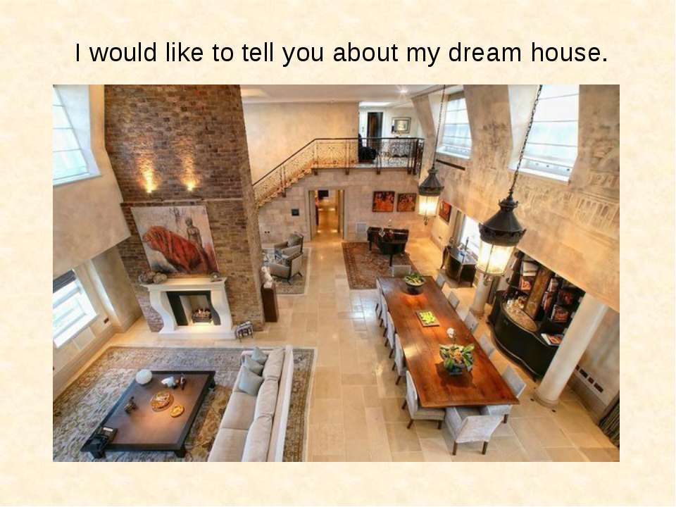 I would like to tell you about my dream house.