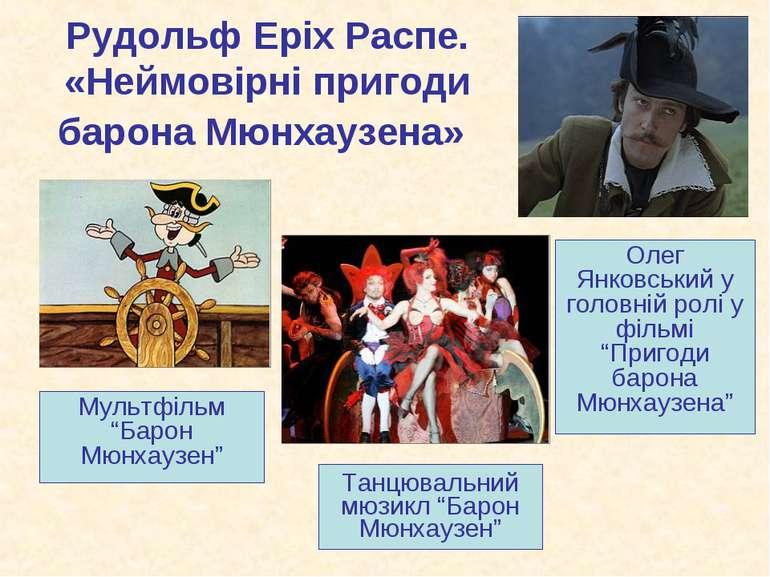 "Рудольф Еріх Распе. «Неймовірні пригоди барона Мюнхаузена» Мультфільм ""Барон ..."
