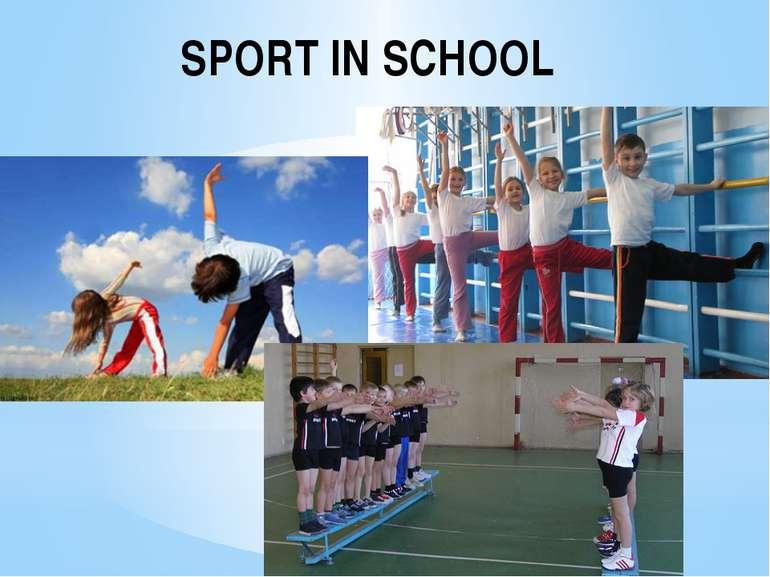 SPORT IN SCHOOL