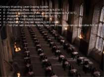 Ordinary Wizarding Level Grading System O - Outstanding (Pass, always continu...