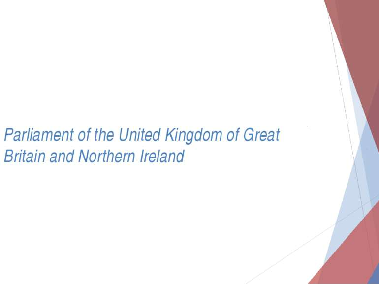Parliament of the United Kingdom of Great Britain and Northern Ireland