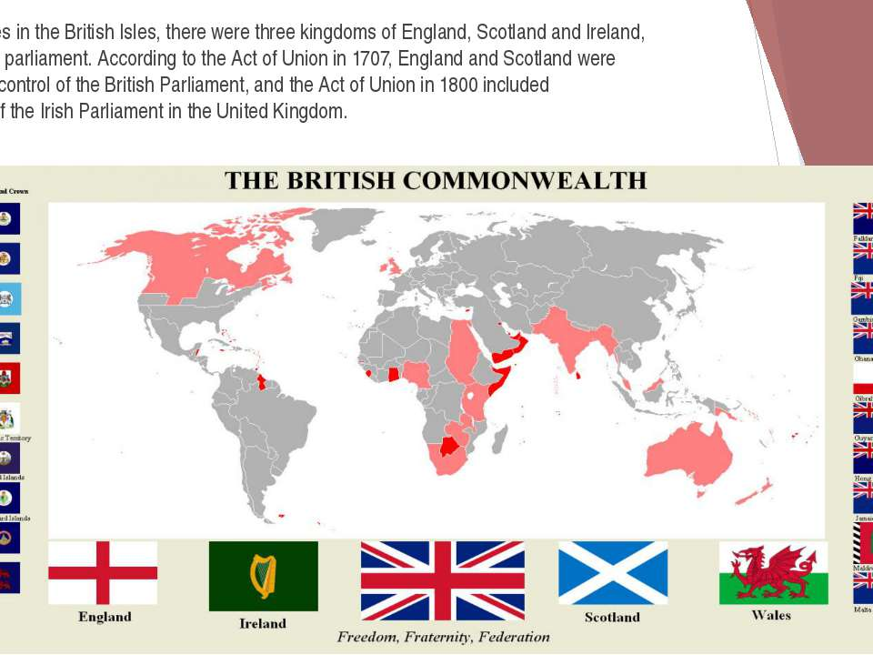 In the Middle Ages in the British Isles, there were three kingdoms of England...