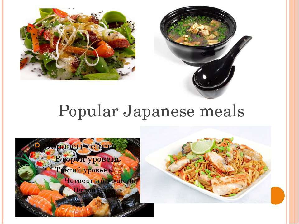 Popular Japanese meals