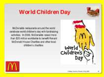 O'Malley, Ouellette, Plourde, & Roy 2009 * World Children Day McDonalds resta...