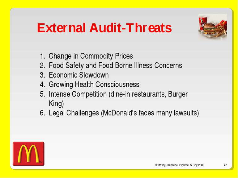 O'Malley, Ouellette, Plourde, & Roy 2009 * External Audit-Threats Change in C...