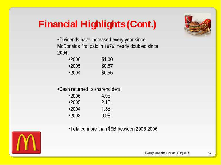 mcdonalds corporate objectives