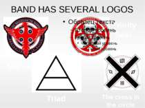 BAND HAS SEVERAL LOGOS Trinity Seal Mithra Triad The cross in the circle