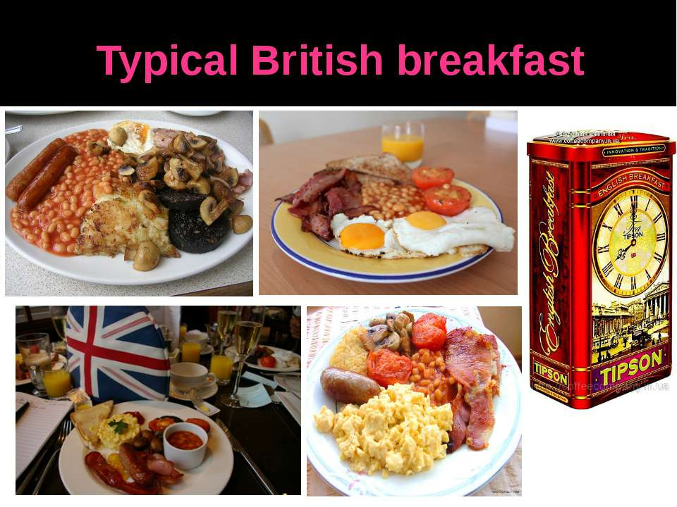 Typical British breakfast