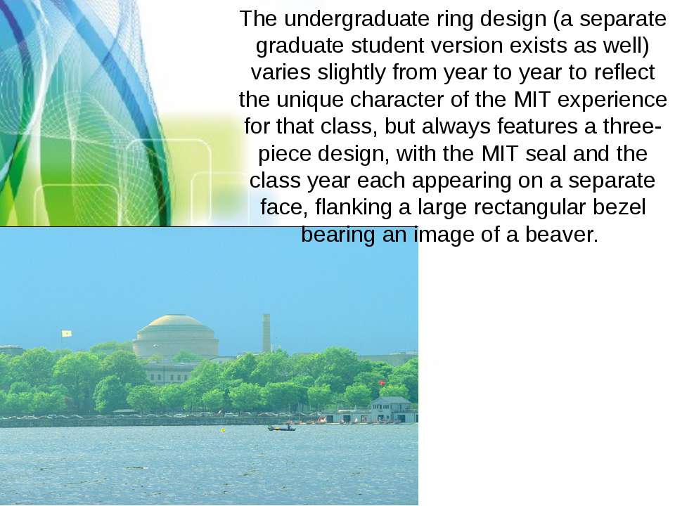 The undergraduate ring design (a separate graduate student version exists as ...