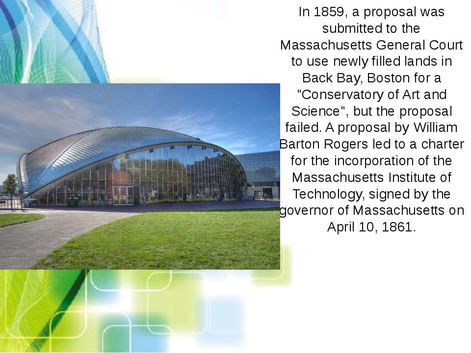 In 1859, a proposal was submitted to the Massachusetts General Court to use n...