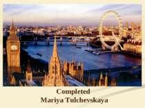 Completed Mariya Tulchevskaya