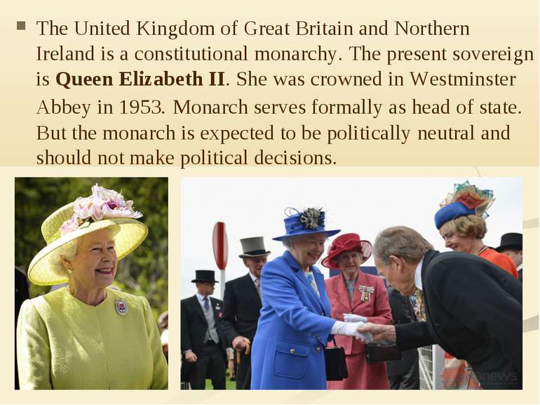 The UnitedKingdomofGreat Britainand Northern Ireland is a constitutional ...