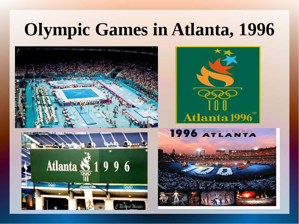 Olympic Games in Atlanta, 1996