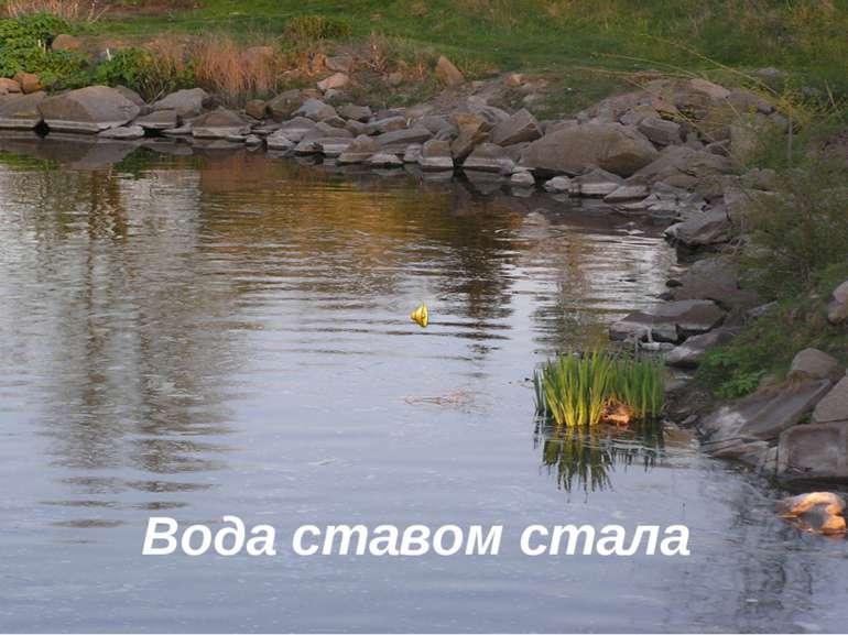 Вода ставом стала