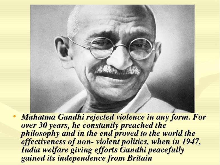 """""""Mahatma Gandhi"""" - презентація з англійської мови"""