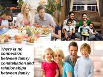 There is no connection between family constellation and relationships between...