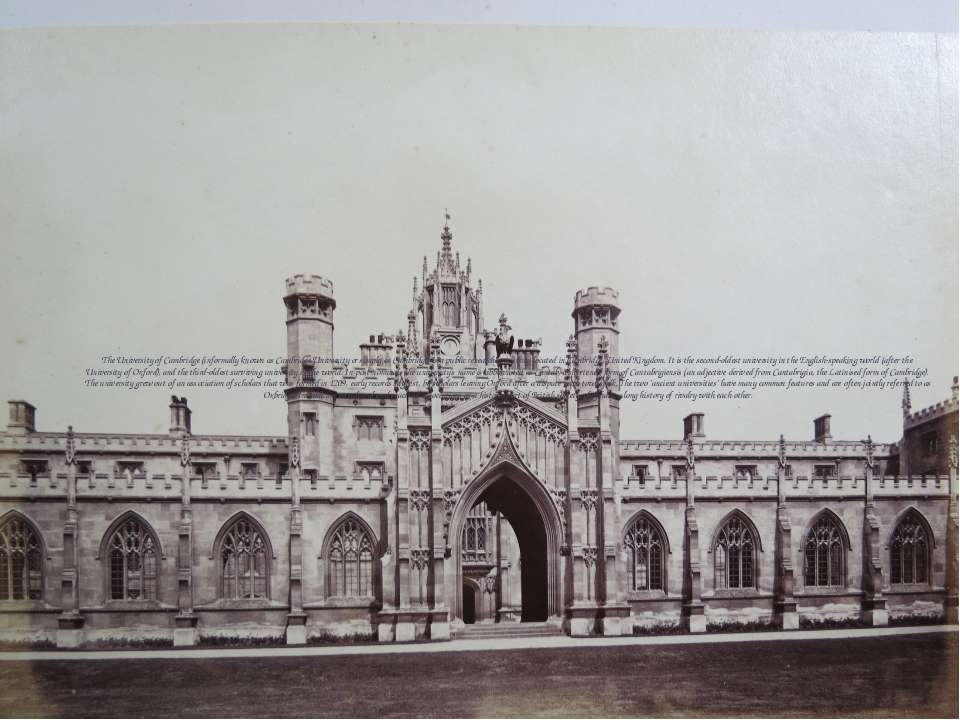 The University of Cambridge (informally known as Cambridge University or simp...