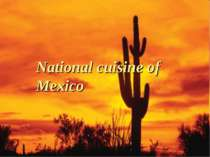 """National cuisine of Mexico"""