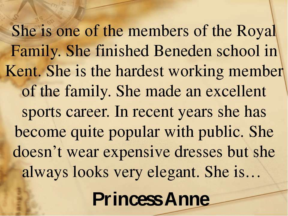 She is one of the members of the Royal Family. She finished Beneden school in...