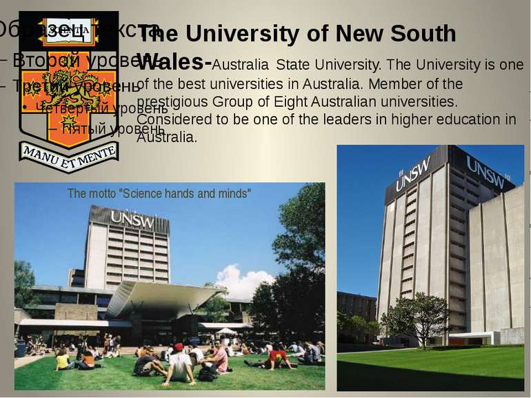The University of New South Wales-Australia State University. The University ...
