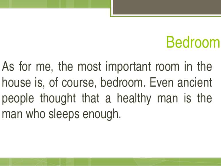 Bedroom As for me, the most important room in the house is, of course, bedroo...