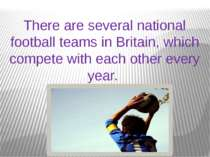 There are several national football teams in Britain, which compete with each...