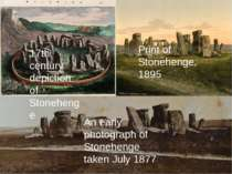 17th century depiction of Stonehenge Print of Stonehenge, 1895 An early photo...