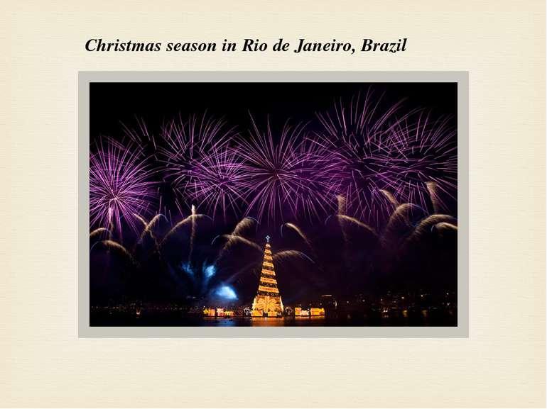 Christmas season in Rio de Janeiro, Brazil