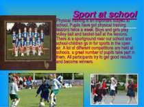 Sport at school Physical training is an important subject at school. Pupils h...