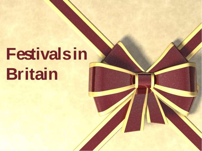 Festivals in Britain