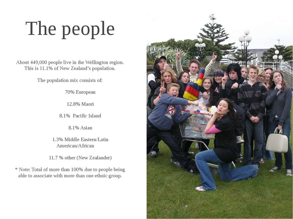 The people About 449,000 people live in the Wellington region. This is 11.1% ...