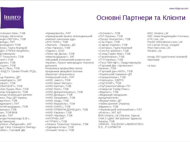 Основні Партнери та Клієнти «АвтоАльянс Київ», ТОВ «Автоград» Автосалон «Аген...