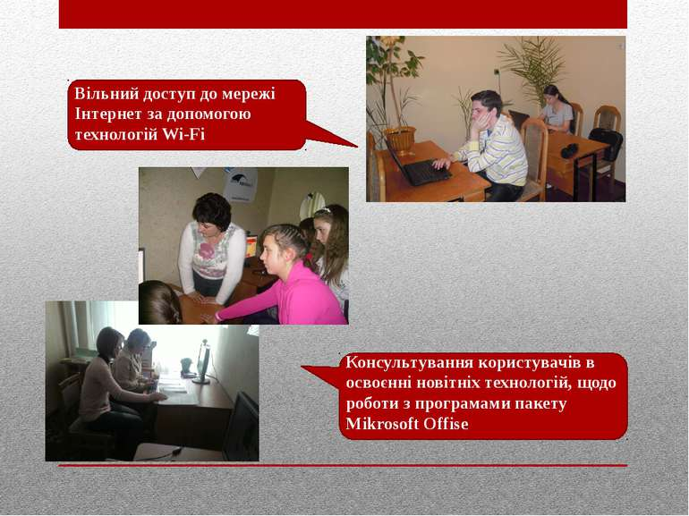 Вільний доступ до мережі Інтернет за допомогою технологій Wi-Fi Консультуванн...