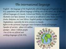 The international language English - the language of the English (the officia...